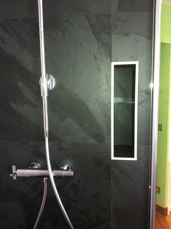 Beautiful salle de bains receveur ardoise with douche italienne ardoise - Douche italienne ardoise ...