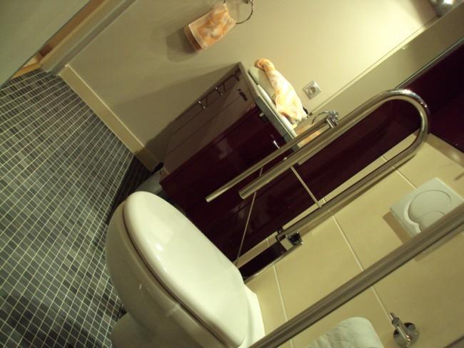 Salle de bains aux normes handicap - Largeur porte handicape ...