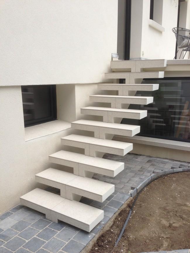 Escalier Exterieur En Beton Cellulaire